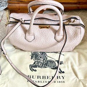 Burberry like new blush grain leather satchel bag